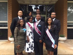 SGA officers with Miss UNCF after Founders' Convocation.